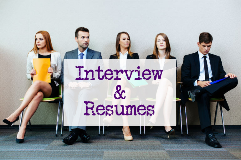 Job interview and resume writing methods